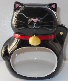 Collectible Cat Scrubby Holder, Greeting Cat