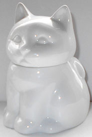 Collectible Cat Sugar Bowl, White