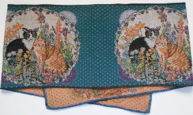 Collectible Cat Table Runner, Two Cats