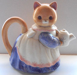 Collectible Kitten Teapot, Kitten With Teapot