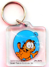 Collectible Garfield Key Ring
