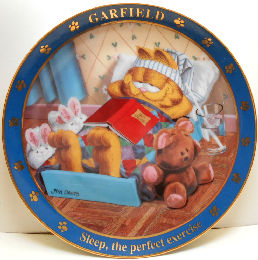 Collectible Garfield Plate, Sleep