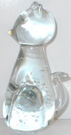 Collectible Glass Cat, Bubbles