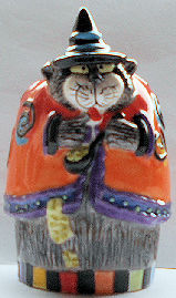 Collectible Halloween Pepper Shaker, Kitty Witches