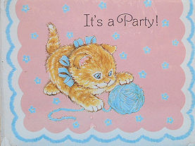 Collectible Kitten Invitations: It's A Party