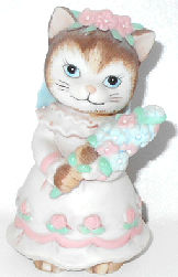 Collectible Kitty Cucumber, Flower Girl