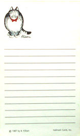 Collectible Kliban Notepad