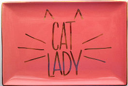 Sample, Large Trinket Tray, Cat Lady