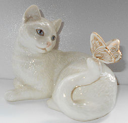 Collectible Lenox Cat, Cat & Butterfly
