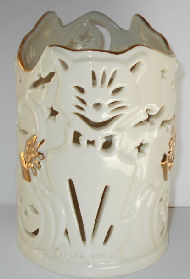 Collectible Lenox Halloween Cat Votive Candle Holder