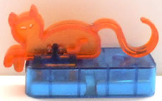 Collectible Magnetic Hook, Orange Cat, Blue Base