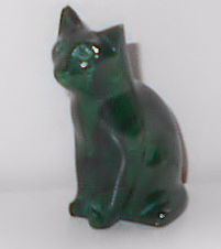 Collectible Miniature Cat, Malachite