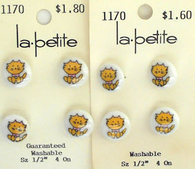 Collectible Yellow Kitten Buttons