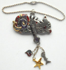 Collectible Star, Moon, Cat Pendant
