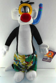 Collectible Sylvester The Cat Plush, Snorkeling Sylvester