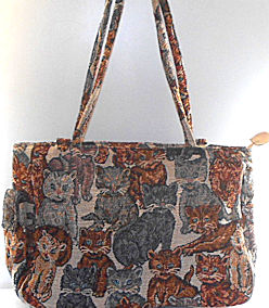 Collectible Tapestry Cat Purse