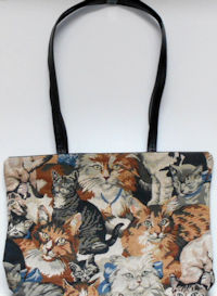 Collectible Tapestry Cat Tote