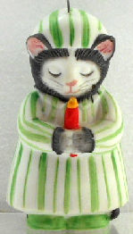 Collectible Kitty Cucumber Ornament, Good Night