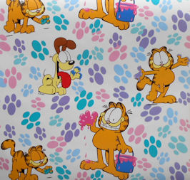 Garfield Gift Wrap, Colorful Paws