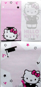 Collectible Hello Kitty Self Stick Notes, Graduation