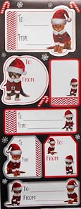 Kitty Christmas Gift Labels