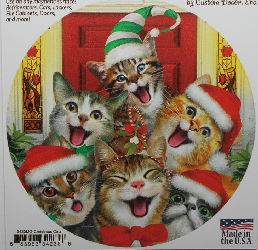 Large Christmas Cats Magnet