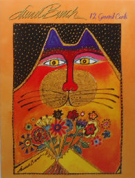 Laurel Burch Mini Folio, 12 Cat Cards