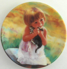 Collectible Miniature Cat Plate, My Kitty