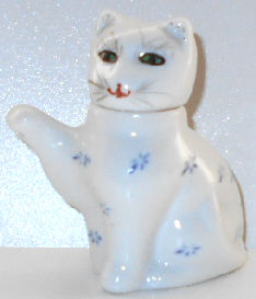 Collectible Mini Cat Condiment Server