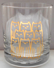 Sample, Cat Beverage Glass, Nine Cats