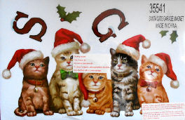 Sample, Cat Garage Door Magnet Set, Season's Greetings