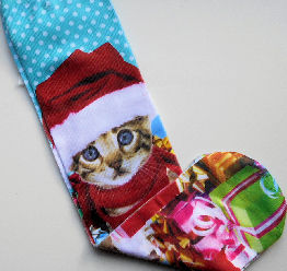 Sample, Christmas Kitten Socks, Kitten & Gifts