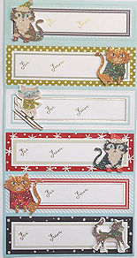 Sample, Package Cat Gift Labels