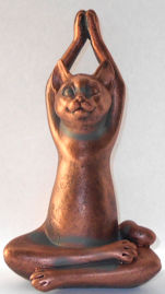 Sample, Cat Yoga Figurine, Complete Breath Seated