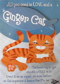 Sample, Ginger Cat Greeting Card, Blank
