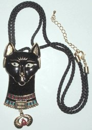 Bastet Cat Pendant And Pin