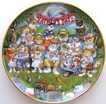 Collectible Cat Plate, Father's Day, Bill Bell