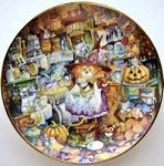 Collectible Cat Plate, Scaredy Cats, Bill Bell