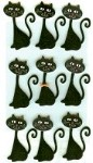 Black Cat Stickers, Large