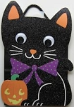Black Kitten Halloween Gift Bag