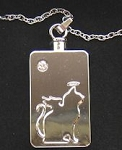 Angel Cat Memorial Ash Pendant