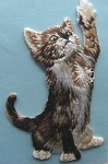 Cat Applique, Reaching Tabby