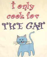 Cat Apron, Only Cook For The Cat