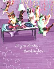Cat Birthday Card, It's Your Birthday Granddaughter