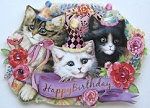 Cat Gift Enclosure Card, Happy Birthday