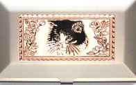 Cat Business Card Case, Tuxedo Cat