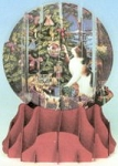 Cat Christmas Card, Pop Up, Calico
