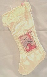 Cat Christmas Stocking, Satin