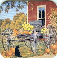 Cat Coaster, Black Cat And Wagon