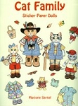 Cat Family Sticker Paper Dolls